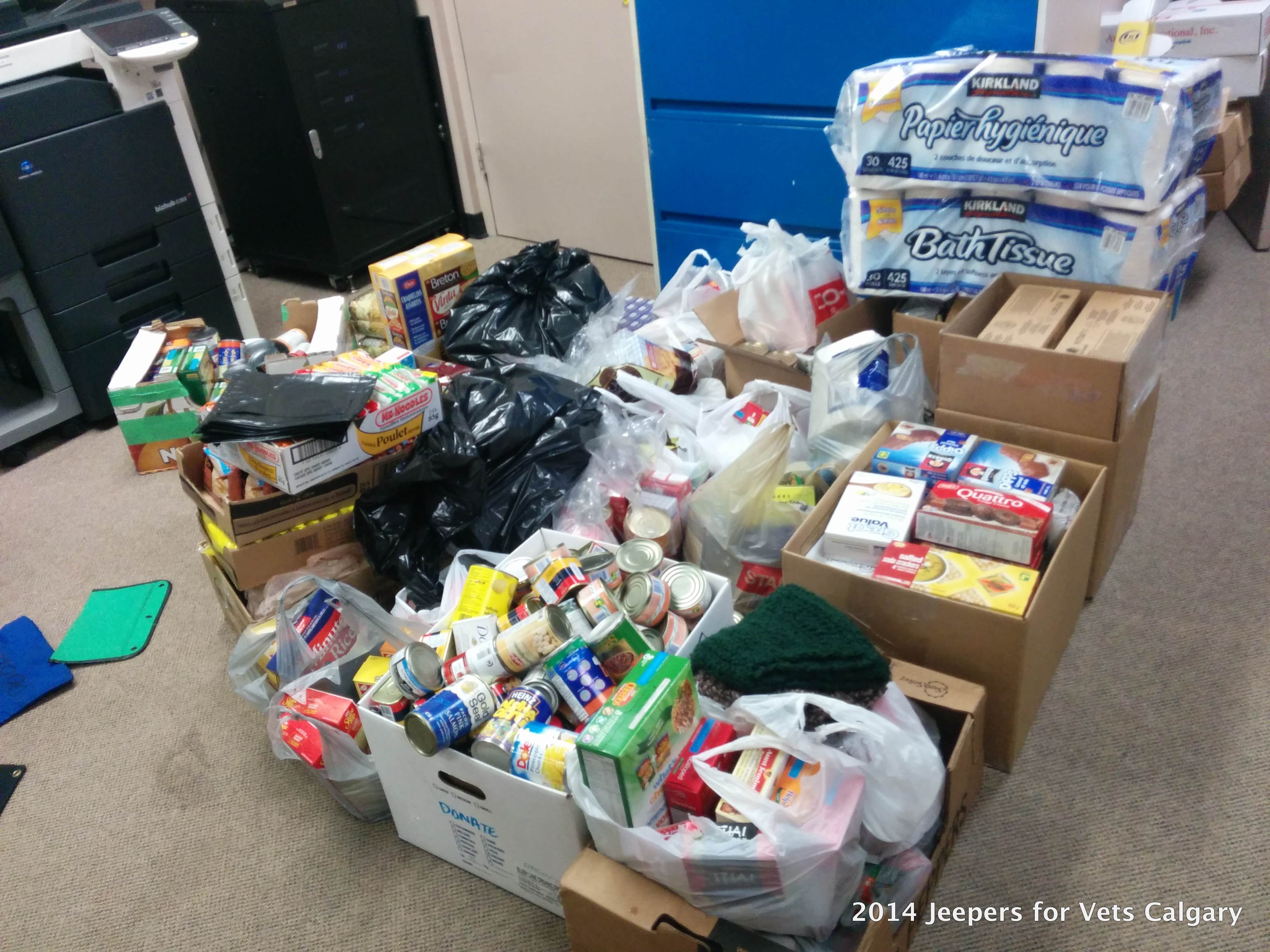 2014 Year End Food Drive Results