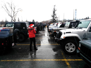 Lineup of Jeeps from 2014 event