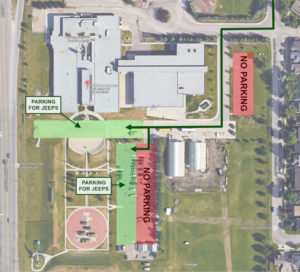 The Military Museums parking map