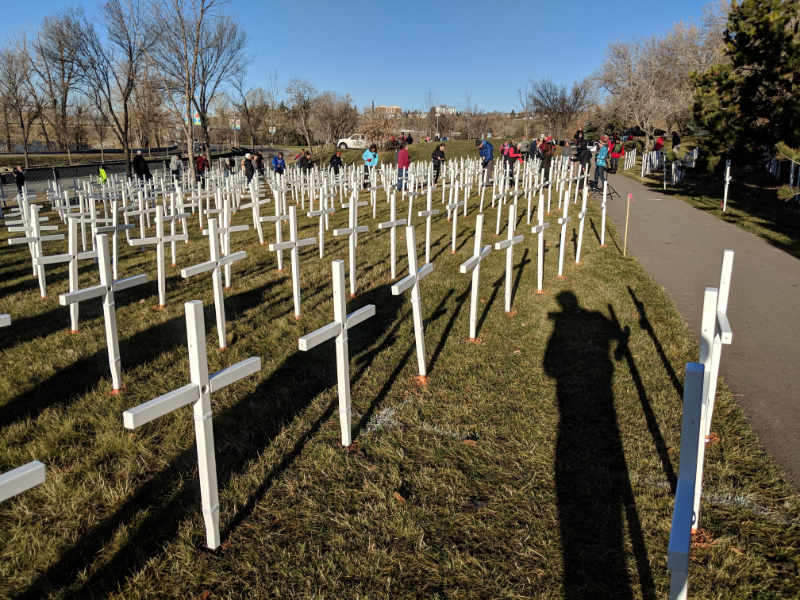 2018 Field of Crosses setup